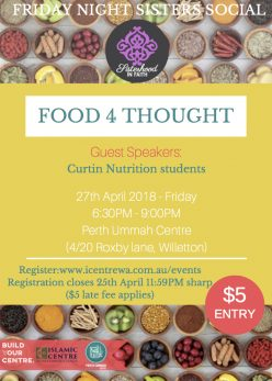 Food 4 Thought - Friday Night Sisters Social