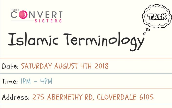 Perth Convert Sisters Monthly Meet Up: Islamic Terminology
