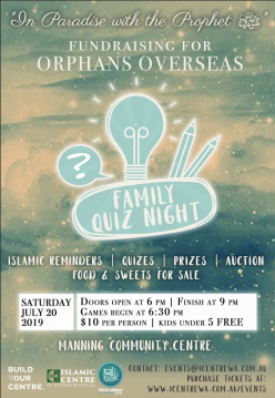 In Paradise with the Prophet (PBUH) Fundraiser & Family Quiz Night